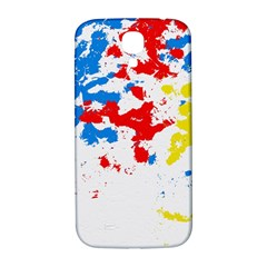 Paint Splatter Digitally Created Blue Red And Yellow Splattering Of Paint On A White Background Samsung Galaxy S4 I9500/i9505  Hardshell Back Case by Nexatart