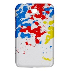 Paint Splatter Digitally Created Blue Red And Yellow Splattering Of Paint On A White Background Samsung Galaxy Tab 3 (7 ) P3200 Hardshell Case  by Nexatart