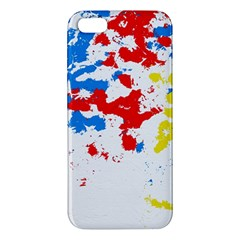 Paint Splatter Digitally Created Blue Red And Yellow Splattering Of Paint On A White Background Iphone 5s/ Se Premium Hardshell Case by Nexatart