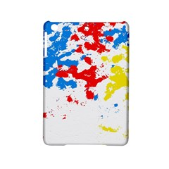 Paint Splatter Digitally Created Blue Red And Yellow Splattering Of Paint On A White Background Ipad Mini 2 Hardshell Cases by Nexatart