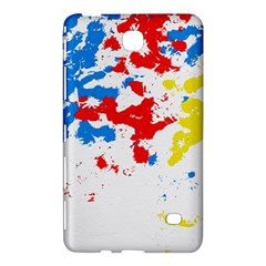 Paint Splatter Digitally Created Blue Red And Yellow Splattering Of Paint On A White Background Samsung Galaxy Tab 4 (7 ) Hardshell Case  by Nexatart