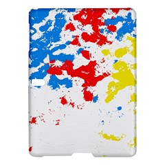 Paint Splatter Digitally Created Blue Red And Yellow Splattering Of Paint On A White Background Samsung Galaxy Tab S (10 5 ) Hardshell Case  by Nexatart