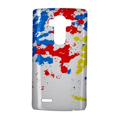 Paint Splatter Digitally Created Blue Red And Yellow Splattering Of Paint On A White Background Lg G4 Hardshell Case by Nexatart
