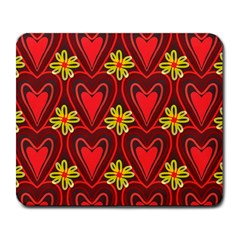 Digitally Created Seamless Love Heart Pattern Large Mousepads