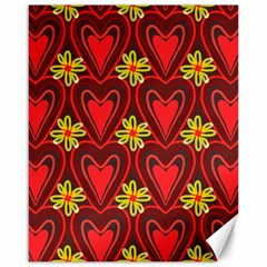 Digitally Created Seamless Love Heart Pattern Canvas 16  X 20   by Nexatart