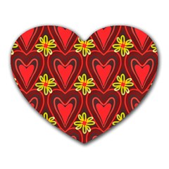 Digitally Created Seamless Love Heart Pattern Heart Mousepads by Nexatart