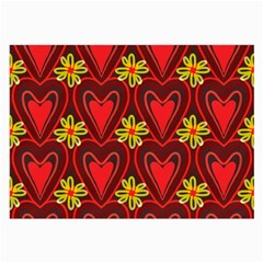 Digitally Created Seamless Love Heart Pattern Large Glasses Cloth (2 Side)