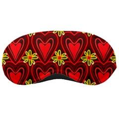 Digitally Created Seamless Love Heart Pattern Sleeping Masks by Nexatart