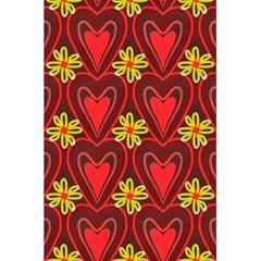 Digitally Created Seamless Love Heart Pattern 5 5  X 8 5  Notebooks