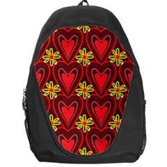 Digitally Created Seamless Love Heart Pattern Backpack Bag