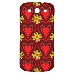 Digitally Created Seamless Love Heart Pattern Samsung Galaxy S3 S Iii Classic Hardshell Back Case by Nexatart