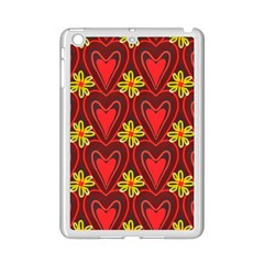 Digitally Created Seamless Love Heart Pattern Ipad Mini 2 Enamel Coated Cases