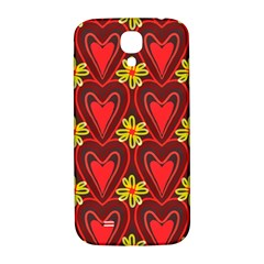 Digitally Created Seamless Love Heart Pattern Samsung Galaxy S4 I9500/i9505  Hardshell Back Case by Nexatart