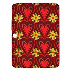 Digitally Created Seamless Love Heart Pattern Samsung Galaxy Tab 3 (10 1 ) P5200 Hardshell Case