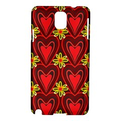 Digitally Created Seamless Love Heart Pattern Samsung Galaxy Note 3 N9005 Hardshell Case by Nexatart