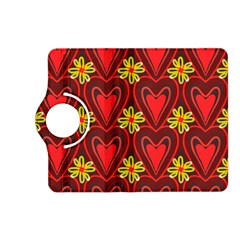 Digitally Created Seamless Love Heart Pattern Kindle Fire Hd (2013) Flip 360 Case by Nexatart