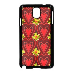 Digitally Created Seamless Love Heart Pattern Samsung Galaxy Note 3 Neo Hardshell Case (black) by Nexatart