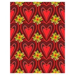 Digitally Created Seamless Love Heart Pattern Drawstring Bag (large)