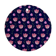 Watercolour Flower Pattern Ornament (round)
