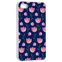 Watercolour Flower Pattern Apple Iphone 4/4s Seamless Case (white)