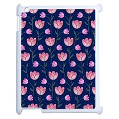 Watercolour Flower Pattern Apple Ipad 2 Case (white) by Nexatart