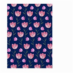Watercolour Flower Pattern Large Garden Flag (two Sides)