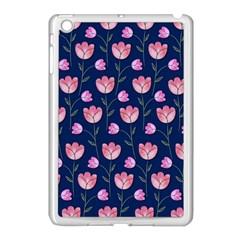 Watercolour Flower Pattern Apple Ipad Mini Case (white) by Nexatart