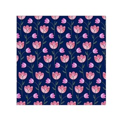 Watercolour Flower Pattern Small Satin Scarf (square) by Nexatart