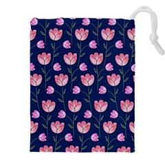 Watercolour Flower Pattern Drawstring Pouches (xxl)