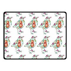 Floral Birds Wallpaper Pattern On White Background Fleece Blanket (small)