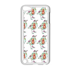 Floral Birds Wallpaper Pattern On White Background Apple Ipod Touch 5 Case (white)