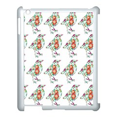 Floral Birds Wallpaper Pattern On White Background Apple Ipad 3/4 Case (white) by Nexatart