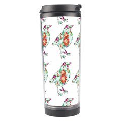 Floral Birds Wallpaper Pattern On White Background Travel Tumbler by Nexatart