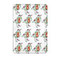 Floral Birds Wallpaper Pattern On White Background Samsung Galaxy Tab 2 (10 1 ) P5100 Hardshell Case  by Nexatart