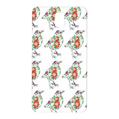 Floral Birds Wallpaper Pattern On White Background Samsung Galaxy Note 3 N9005 Hardshell Back Case by Nexatart