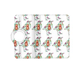 Floral Birds Wallpaper Pattern On White Background Kindle Fire Hd (2013) Flip 360 Case by Nexatart