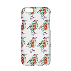 Floral Birds Wallpaper Pattern On White Background Apple Iphone 6/6s Hardshell Case by Nexatart