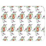 Floral Birds Wallpaper Pattern On White Background Double Sided Flano Blanket (Medium)  60 x50 Blanket Front
