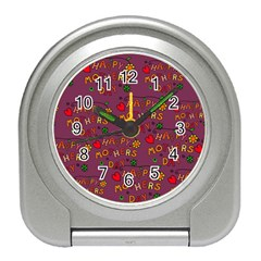 Happy Mothers Day Text Tiling Pattern Travel Alarm Clocks by Nexatart