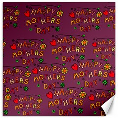 Happy Mothers Day Text Tiling Pattern Canvas 20  X 20