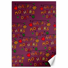 Happy Mothers Day Text Tiling Pattern Canvas 20  X 30