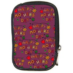 Happy Mothers Day Text Tiling Pattern Compact Camera Cases by Nexatart