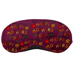 Happy Mothers Day Text Tiling Pattern Sleeping Masks by Nexatart