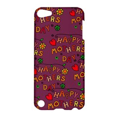 Happy Mothers Day Text Tiling Pattern Apple Ipod Touch 5 Hardshell Case by Nexatart