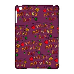 Happy Mothers Day Text Tiling Pattern Apple Ipad Mini Hardshell Case (compatible With Smart Cover)