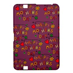 Happy Mothers Day Text Tiling Pattern Kindle Fire Hd 8 9  by Nexatart