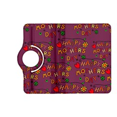 Happy Mothers Day Text Tiling Pattern Kindle Fire Hd (2013) Flip 360 Case by Nexatart