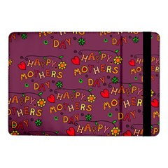 Happy Mothers Day Text Tiling Pattern Samsung Galaxy Tab Pro 10 1  Flip Case by Nexatart