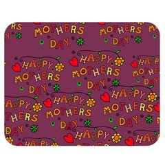 Happy Mothers Day Text Tiling Pattern Double Sided Flano Blanket (medium)  by Nexatart