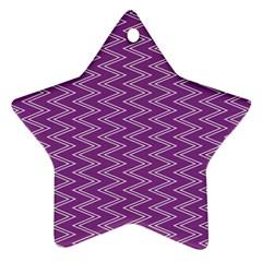 Purple Zig Zag Pattern Background Wallpaper Ornament (star)